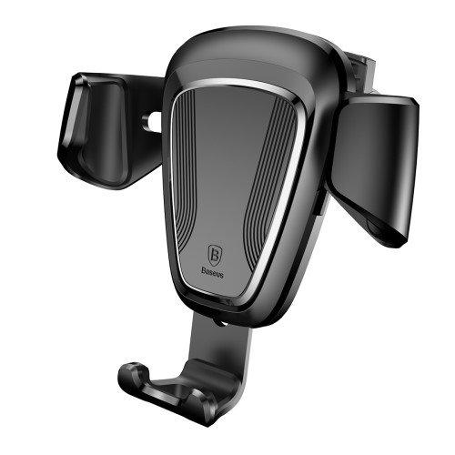 BASEUS Gravity Car Mount Rotation Car Air Vent Mount Holder for iPhone Samsung Huawei - Black
