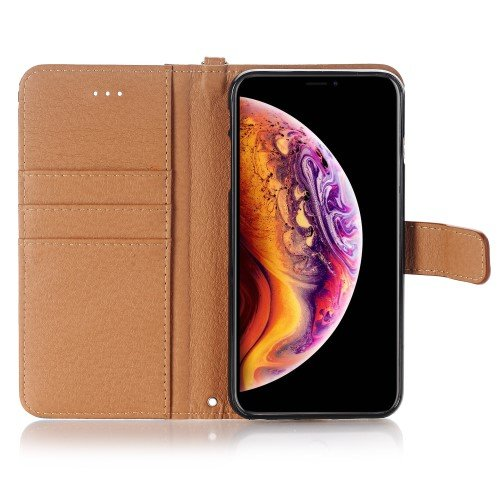 Pattern Printing Tassels Decor Leather iPhone XS Max - Style A